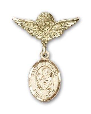 religiousobsessions-gold-filled-baby-badge-with-st-raymond-nonnatus-charm-and-angel-with-wings-badge
