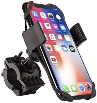 Support T/él/éphone Bicyclette Silicone R/églable pour iPhone XS Max//XR//XS//X//8 Id/éal pour VTT V/élo de Route Moto Installation facile Samsung et 4,0-6,5 Pouces Smartphones Support V/élo du Guidon