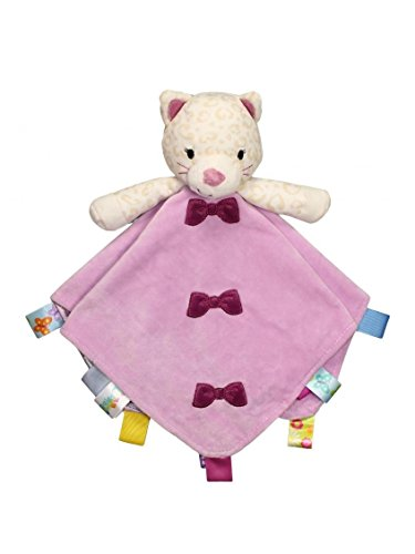 Taggies Rattle Head Kitty Baby Girl Plush Security Blanket Lovie by Taggies - Lavender - Not Applicable Le Top Receiving Blanket