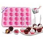 BA-PRO JNXD-119, 20-Cavity Ball Shape Baking Mold, Muffins Cupcakes Cookware Silicone Set, Best for Brownies, Pies, Lollipops, Candies, Jelly and Chocolate, Ice Cream Tray, 228/186/40mm (L/W/H), Pink 17 BAKING EXPERIENCE with ZERO FRUSTRATION It's Humongous: a Multi-Use Cookware of Sturdy yet Flexible Double Tray Cupcake Pan that Will Carry All Baking Endeavors with Embarrassing Ease and Effortless Comfort. Elegant Shape, Available Here in Our USA Stock
