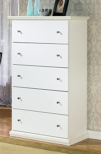 Signature Design by Ashley B139-46 Bostwick Shoals Collection Chest of Drawers, - Cottage Collection Chest Drawer