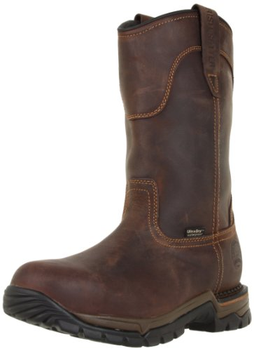 Men Wellington Boots - Irish Setter Men's 83906 Wellington Steel Toe Work Boot,Brown,10.5 EE US