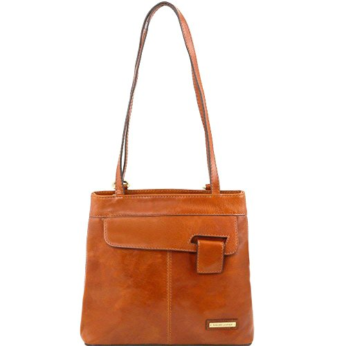 Tuscany Leather - Martina - Sac en cuir convertible en sac à dos - Miel