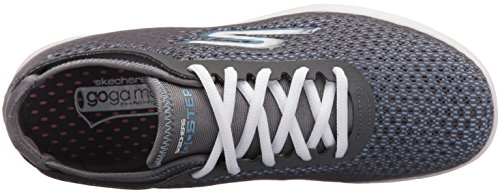 Skechers Performance Womens Go Step Cosmic Walking Scarpa Carboncino / Blu Multi