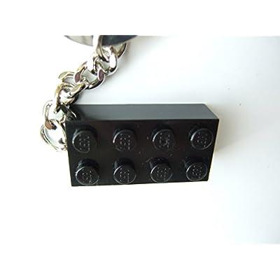 LEGO Classic Black Brick Key Chain Black (Black) Block Key Chain [2008 Edition] 852098: Toys & Games
