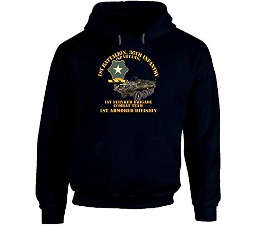 LARGE - Army - 1st Bn 36th Infantry - 1st Stryker Bde Cbt Tm - 1st Ar Div Hoodie - Navy ()