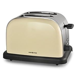 Klarstein 2-Scheiben Toaster Vintage Edelstahl (1000W, 6-stufig mit Auftau-,...