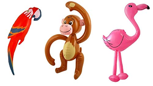 - Inflatable Parrot, Monkey & Flamingo Tropical Animal Party Decoration Photo Prop