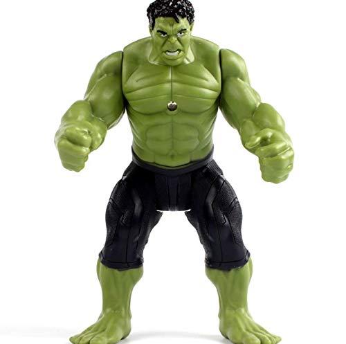 Ewings Avengers Movable Action Figure Super Heros Ironman Thor Hulk Glow PVC Xmas Toys (Hulk)