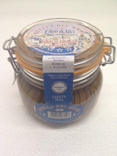 Agostino Recca Anchovies Large Mason Jar - 1 Jar