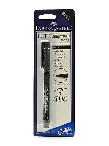 Faber Pen (Faber-Castel PITT Calligraphy Pen Chisel Tip, 2mm,)