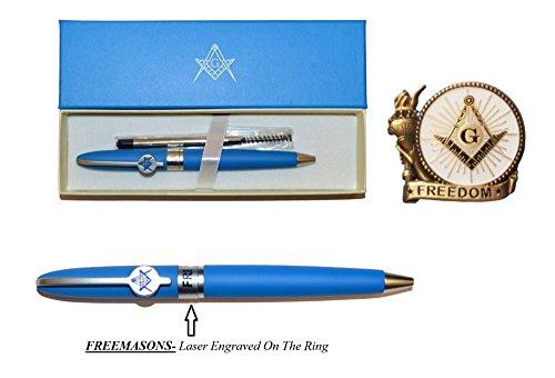 Freemason Ball Point Pen with Free Refill & Lapel Pin - Buy