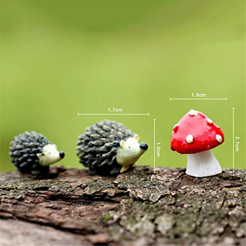 Mini Craft Figurine Plant Pot Garden Ornament Miniature Fairy Garden Decor Hedgehog Mushroom Set Flamingo Horse Rabbit Light 1]()