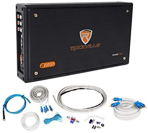 Rockville RXD-F30 Micro Car/ATV Amplifier 2400w Peak 4 Channel 4x150W+Amp ()