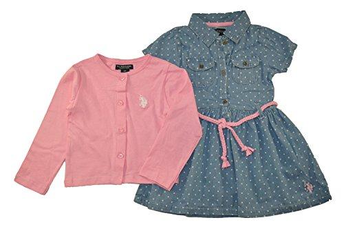 Polo Little Girls Denim Cardigan product image