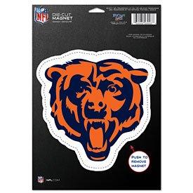 NFL Chicago Bears 83712010 Die Cut Logo Magnet, Small, Black