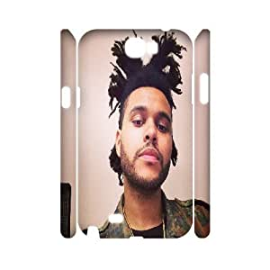 3D [The Weeknd Series] Samsung Galaxy Note 2 Cases Selfie King, Samsung Galaxy Note 2 Cases for Women Tyquin - White