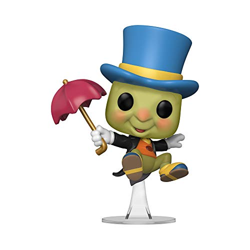 Funko Pop! Disney Pinocho - Figura de vinilo Jiminy Cricket con paraguas, exclusivo de la Convencion de otono