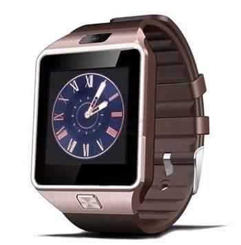 COCCOLARSI® DZ09 Bluetooth Reloj Inteligente Smartwatch con Cámara de 2.0Mp para Android Smartphones de Samsung HTC Huawei Xiaomi Android ORO