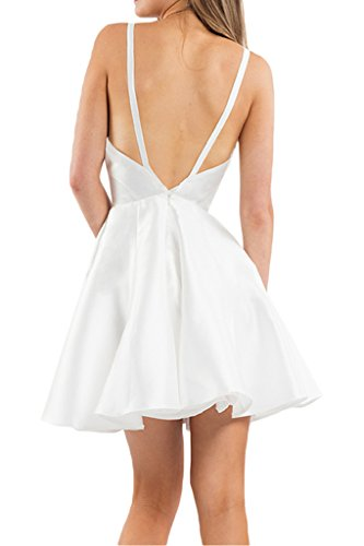 Promkleider Flieder Festlich V mia Ballkleider Mini Braut Cocktailkleider Chiffon Tanzenkleider Abendkleider Ausschnitt Kurzes La wBzqwO
