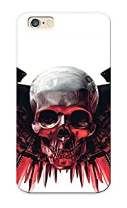 Catenaryoi Iphone 6 Hybrid Tpu Case Cover Silicon Bumper Skull With Gunwings