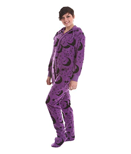 Funzee Wizard Fleece Footed Pajamas - Adult Footie Suit S...