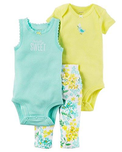 Bird Sleeveless (Carter's Baby Girls Take Me Away 3-Piece Little Character Set  -18 Months -Sleeveless Bird)
