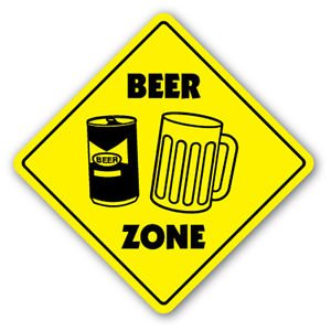 Price comparison product image BEER ZONE Sign Decal novelty Sign Decals mug glass neon tap keg gag funny brew drinker drunk