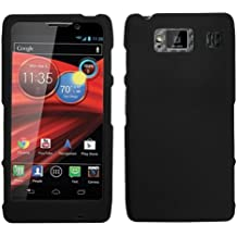 Fits Motorola XT926 XT926M Droid Razr Maxx HD Hard Plastic Snap on Cover Black Rubberized Verizon
