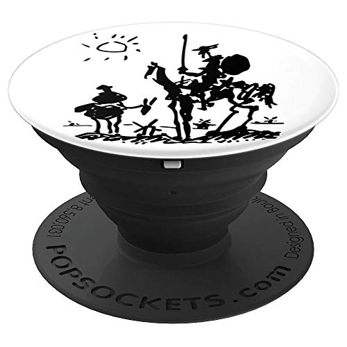 (Don Quixote 1955, Pablo Picasso Sketch Artwork - PopSockets Grip and Stand for Phones and Tablets)