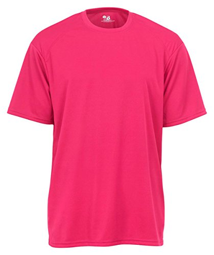 Badger Mens B-Core Short-Sleeve Performance Tee (4120) -HOT CORAL - T-shirt Short Sleeve Badger