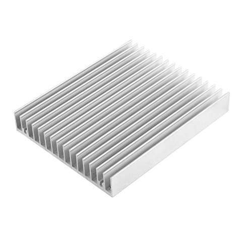 uxcell 10Pcs 10mm x 10mm x 10mm Aluminum Heatsink Heat Diffuse Cooling Fin Silver Tone