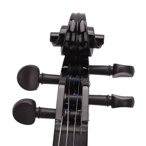 Lovinland 4/4 Acoustic Violin Beginner Violin Full Size with Case Bow Rosin Black by Lovinland (Image #3)