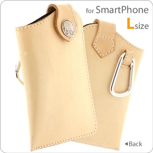 Handmade Leather Cell Phone Pouch for Smartphone with Indian Concho (Tan/L (Hide Concho)