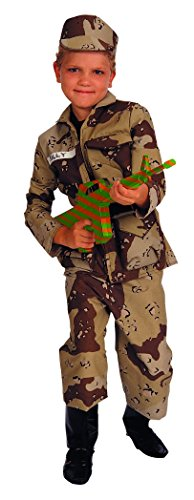 Child Large (Size 12-14, 8-10 Yrs) Special Forces Costume (Weapon not included) -