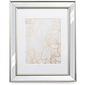 Amazon.com - 11x14 Mirrored Picture Frame - Matted to 8x10, Frames ...