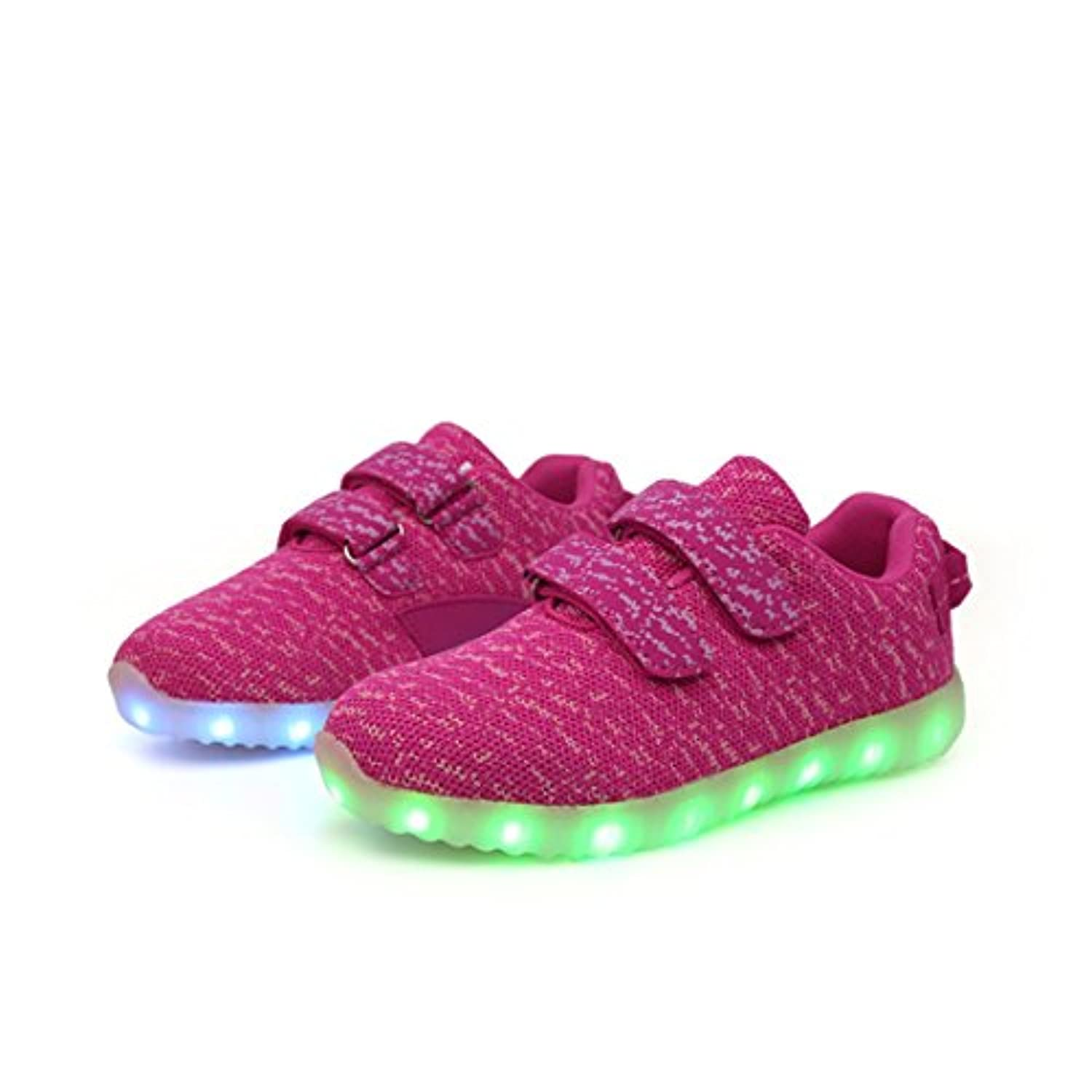 CAIJ Girl Boy Kid Upgraded USB Charging LED Light Sport Shoes Flashing Sneakers