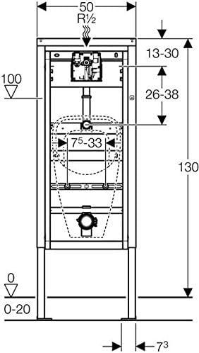 Geberit Duofix Basic Urinal Universal Bauh/öhe 130 cm 458.603.00.5