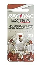 Rayovac Extra Advanced, size 312 Hearing Aid Battery (pack 60 pcs)