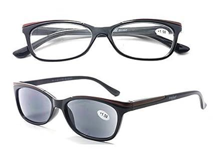 IRIS GLASS/Gafas de Lectura/Duplo 2x1/ Mujer/Vision Interior y Exterior/Diotrias + 3,0