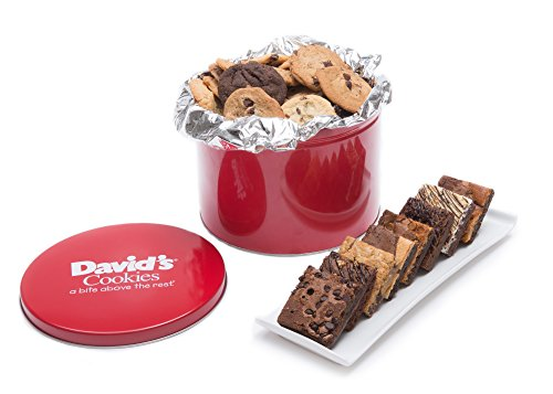 David's Cookies and Brownie Family Pack - 5 Lb. Gift (Pecan Cookie Basket)