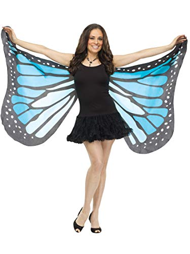 (Fun World Women's Blue Fabric Butterfly Wings,)