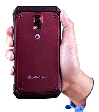(Samsung Galaxy S5 Active G870A Red Standard Battery Door Back Cover)