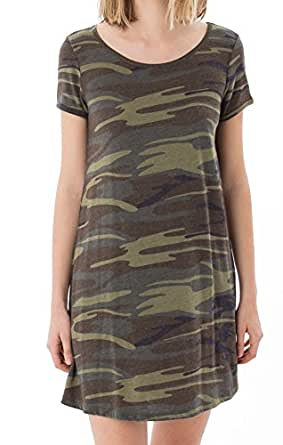 Z SUPPLY The Camo Connor Dress (Large, Camo Green)