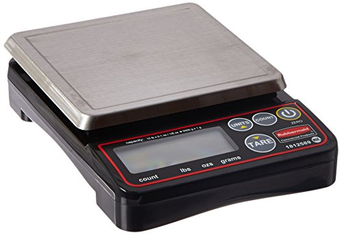 Rubbermaid Commercial Products 1812589 Compact Digital Scale for Foodservice Portion Control, 10 lb