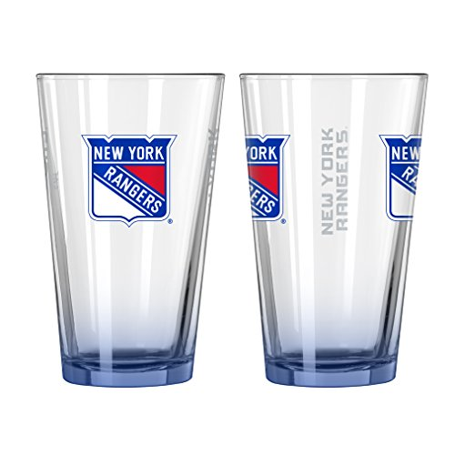 NHL New York Rangers Elite Pint Glass, 16-ounce, - Glasses Ny