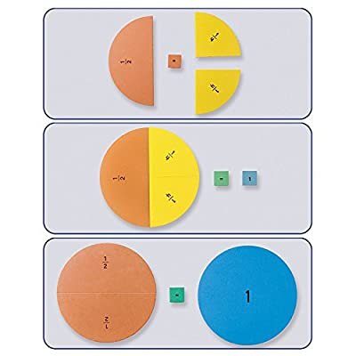 Educational Insights Foam Magnetic Fraction Circles: Toys & Games