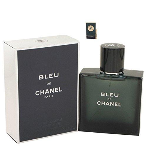 Bléu Dé Chánél Cologne For Men Eau De Toilette Spray 1.7 oz Free! BH cologne 0.03 oz