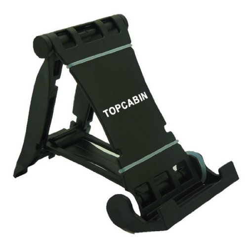 TOPCABIN Ipad Holder High Quality Plastic Multi-stand for E-reader Tablets Cell Phones (Black)