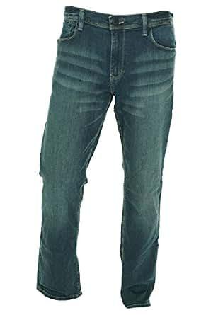 Calvin Klein Jeans Men's Slim Straight Jeans, Dark Wash, 38X32